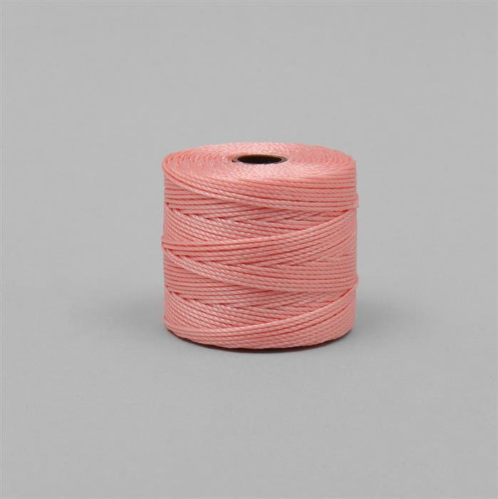 70m Pink Coral Nylon Cord Approx 0.4mm