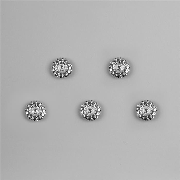 Silver Plated Base Metal Buttons (Alloy) 17mm (5pcs/set)