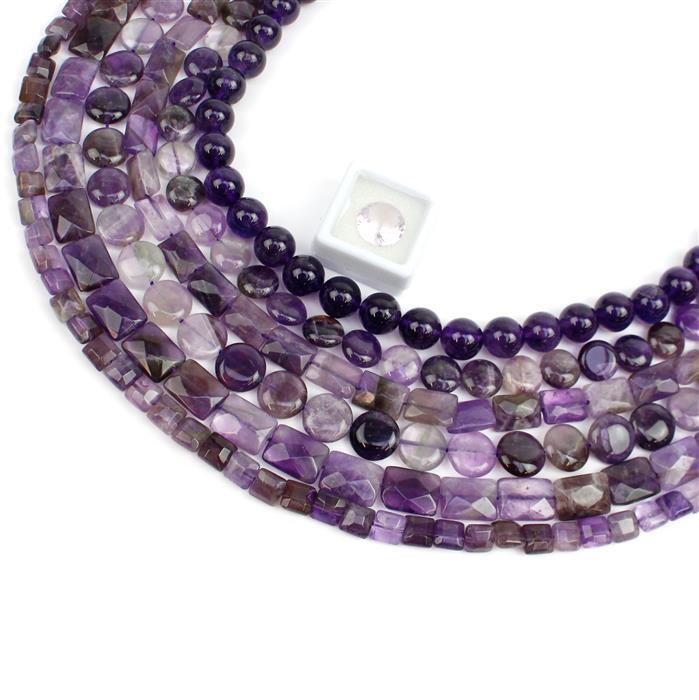 Amethyst Collection! Coins, Rectangles, Squares, Rounds and Concave Cut
