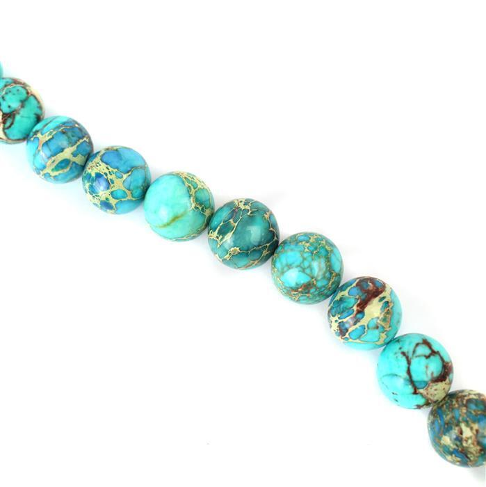 380cts Turquoise Blue Colour Terra Jasper Plain Rounds Approx 14mm, Approx 38cm/strand