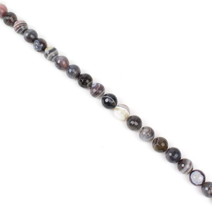 480cts Botswana Agate Faceted Rounds Approx 14mm, 38cm strand