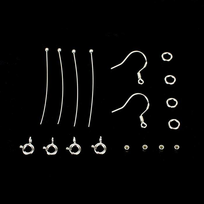 925 Sterling Silver Jewellery Suite Findings Pack (16pcs)
