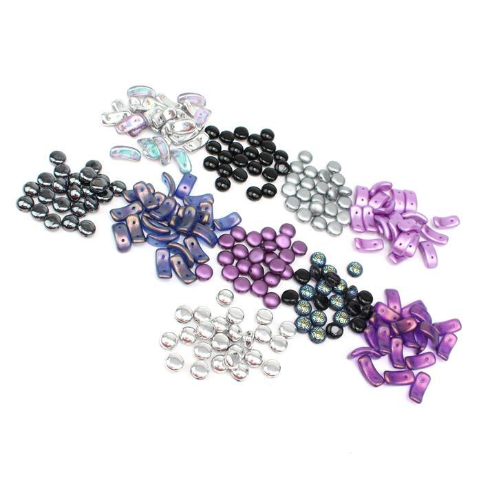 Amethyst Noir Preciosa Mega Bundle INC 6x Candy Beads (150pcs) & 4x Bow Beads (100pcs)