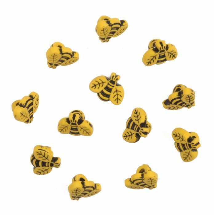 Bees Buttons: Pack of 12