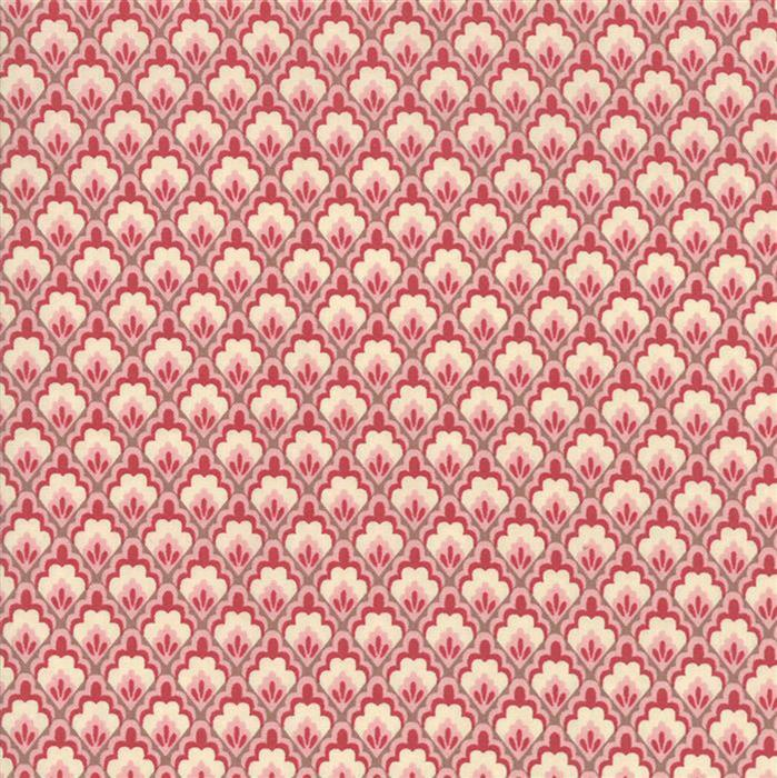 Moda Chafarcani Traditional Floral on Rose Fabric 0.5m