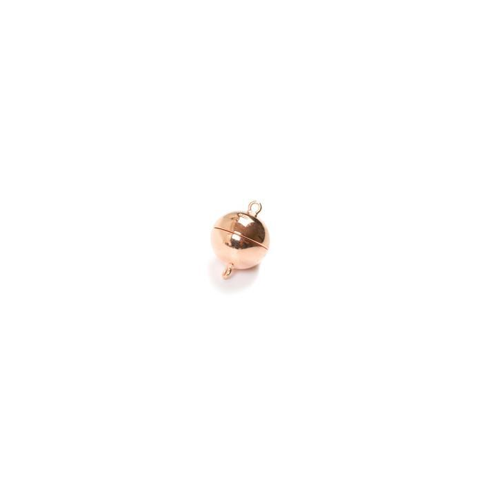Rose Gold Plated 925 Sterling Silver Magnetic Clasp - 8mm (1pc)