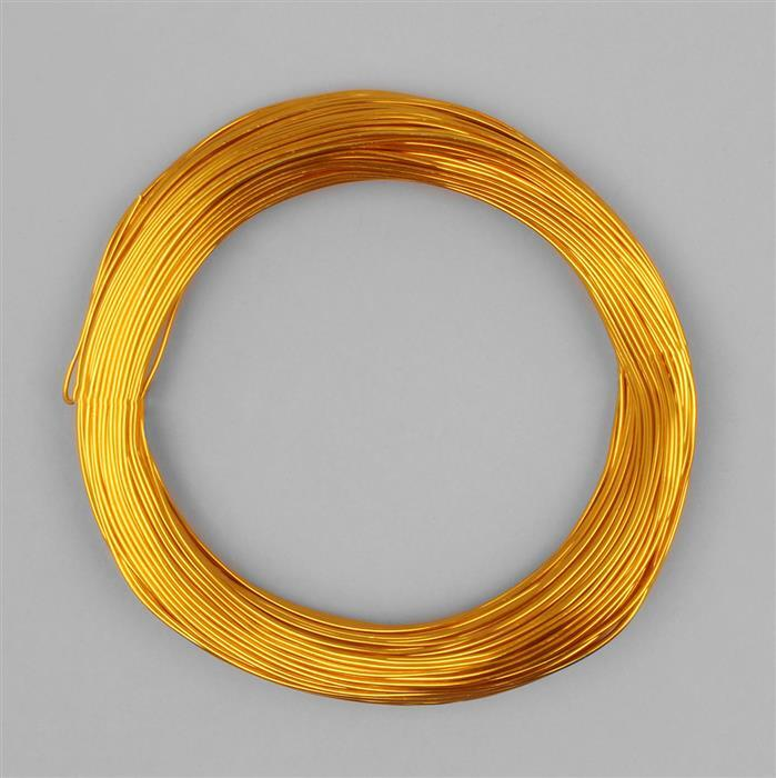 50m Gold Colour Aluminum Wire Approx 1mm