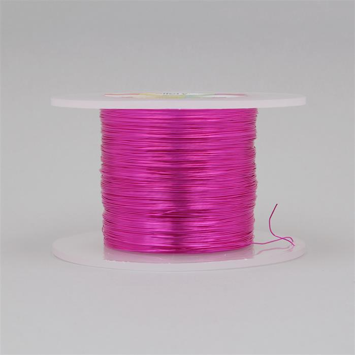 100m Fuchsia Coloured Copper Wire 0.4mm
