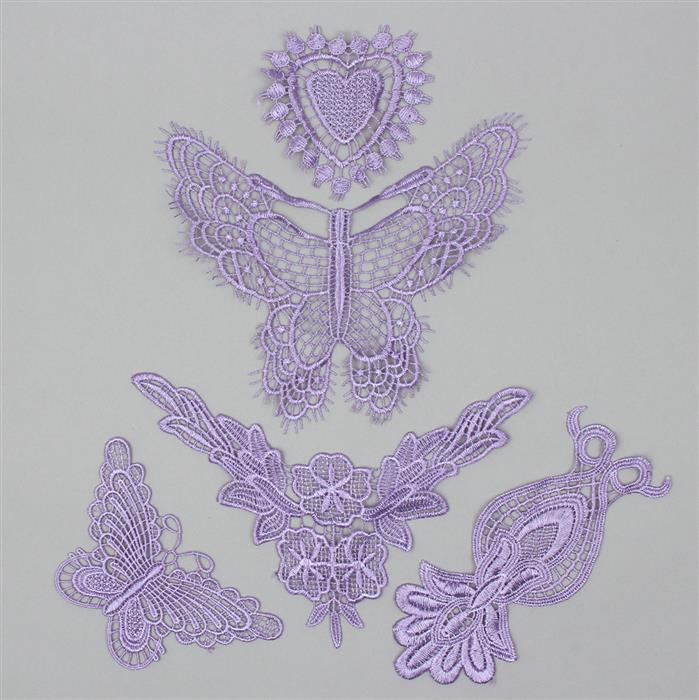Hyacinth Beautiful Butterflies Lace Bundle (Set of 5)