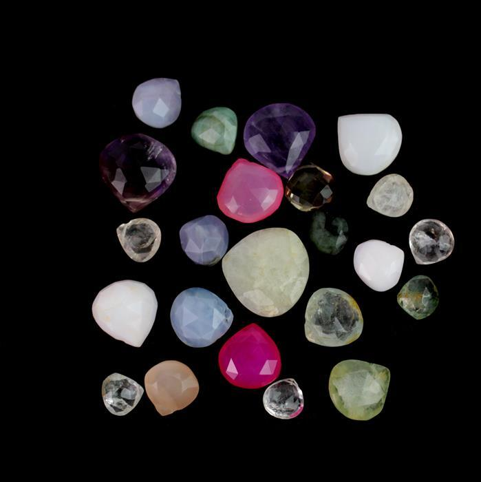 145cts Multi Gemstone Faceted Pears Assortment.