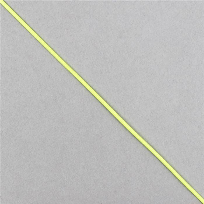 10m Neon Green Woven Cotton Cords, Approx 1mm