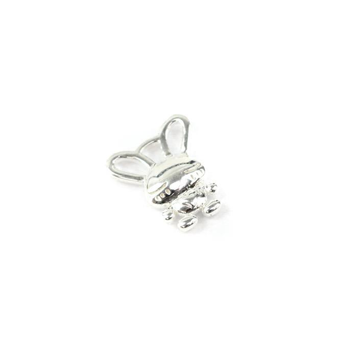 925 Sterling Silver Rabbit Charm Approx 12x10mm,1pcs