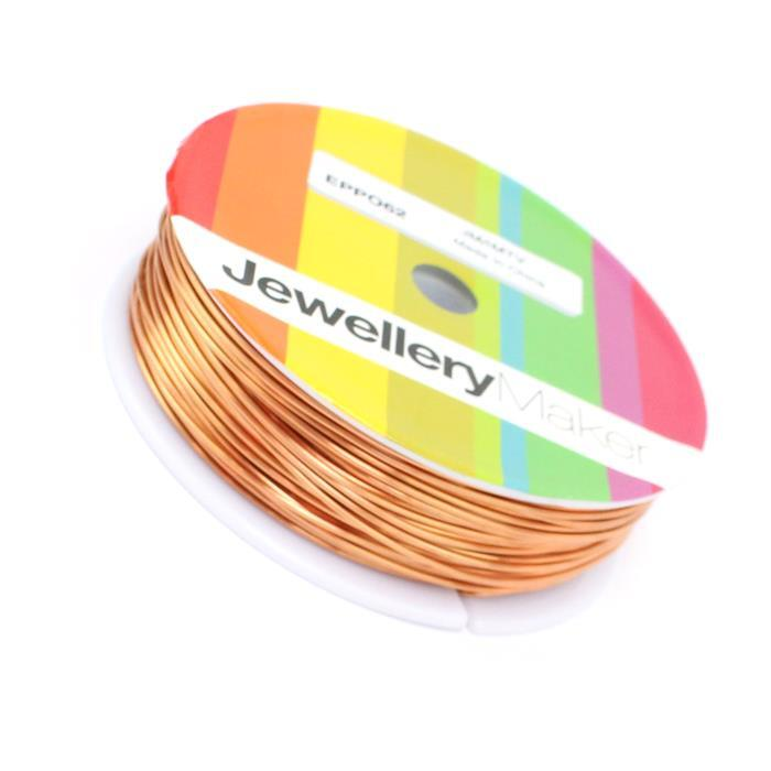 Rose Gold Coloured 1mm Copper Wire (50m/roll)