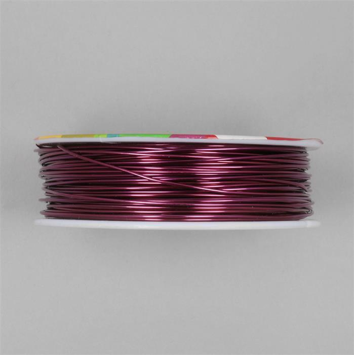 50m Maroon Coloured Copper Wire Approx 1.00mm