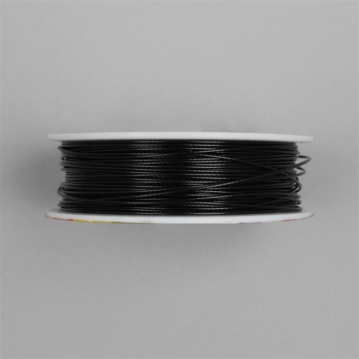 50m Black Colour Stainless Steel Beading Thread 1mm
