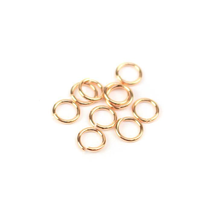 Rose Gold Plated 925 Sterling Silver Open Jump Rings - 5mm (10pcs/pk)
