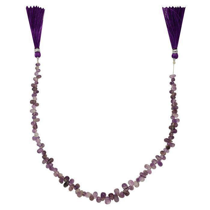 70cts Amethyst Graduated Irregular Plain Drops Approx 3x2 to 9x5mm, 29cm Strand.