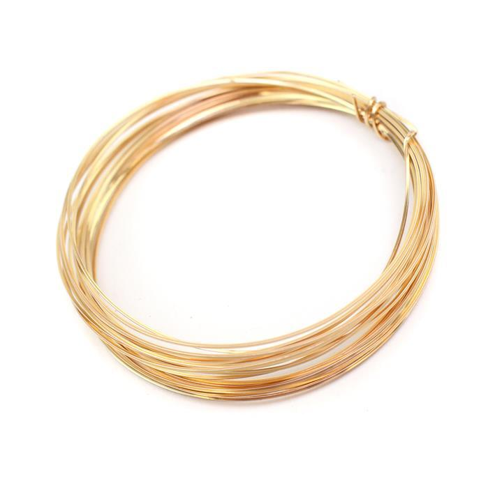 Champagne Gold Copper Square Wire - 0.5mm (3m)