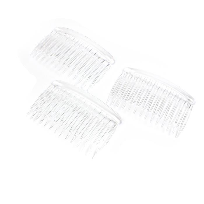 Plastic Hair Combs, Approx 4.5x7cm (3pk)