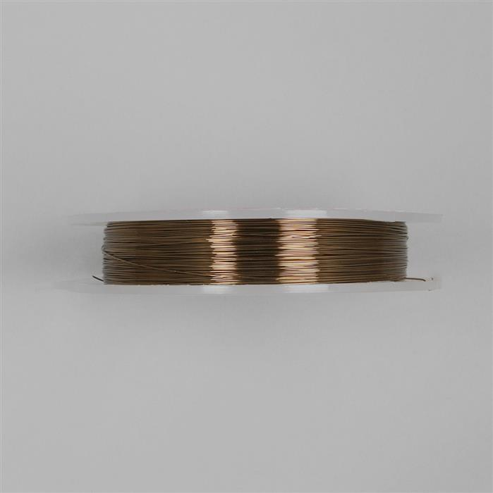 100m Antique Bronze Coloured Copper Wire Approx 0.40mm
