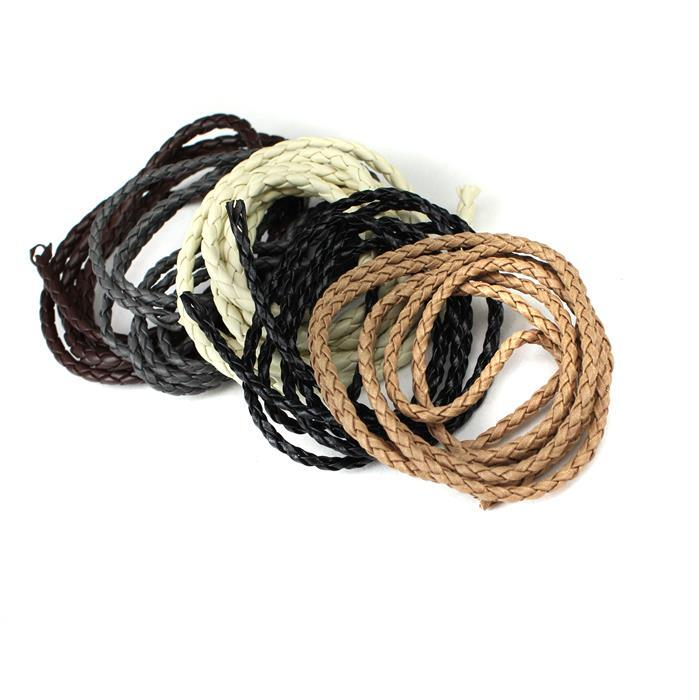 Brand New Braided Rope Cord Including Matt Black, Grey, Beige, White & Brown