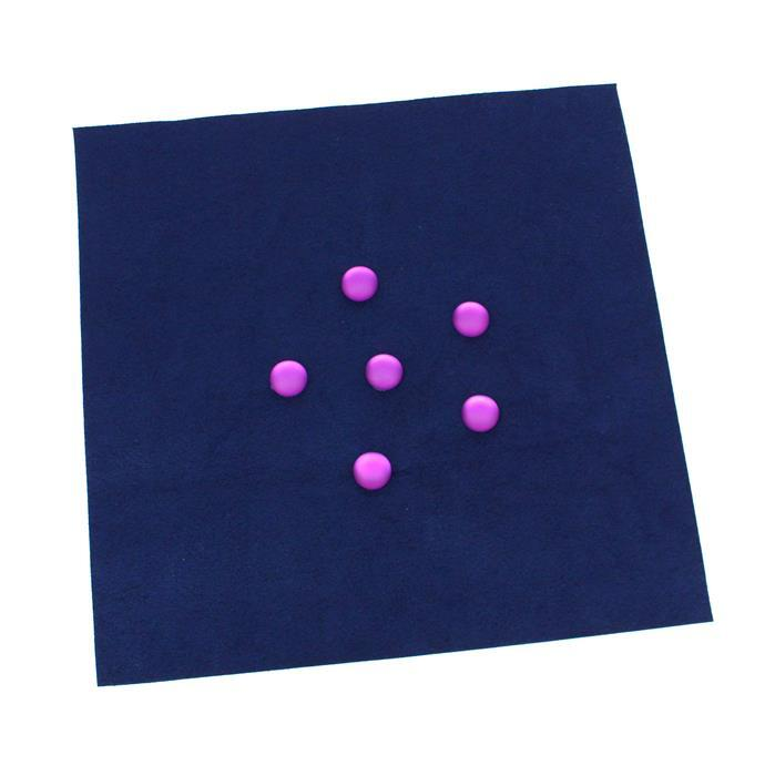 Blackcurrant; Grape Luna Cabochons Approx 14mm 6pcs & Admiral Ultrasuede Foundation Sheet
