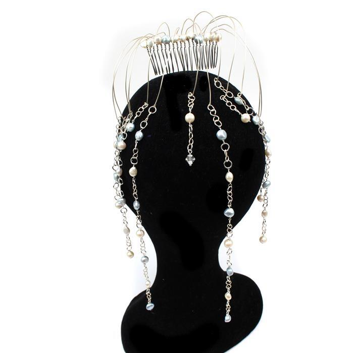 Something Blue INC Freshwater Pearls, Swarovski Crystals, Silver Plated Wire & Hair Combs