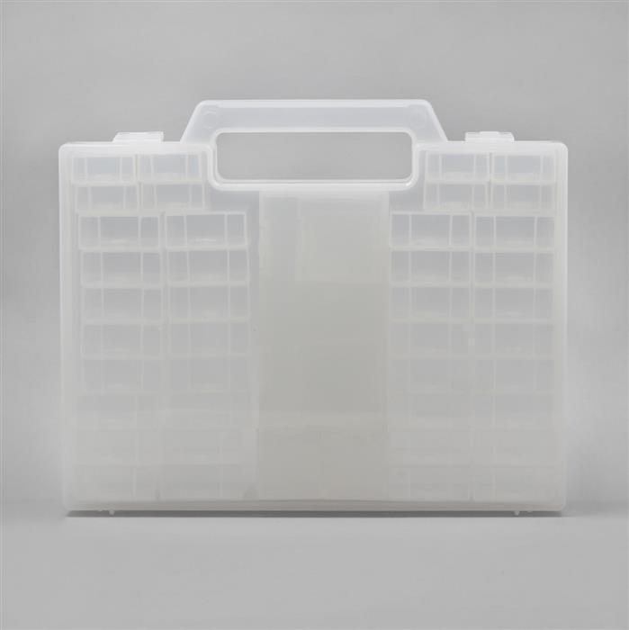 Storage Carry Case with 56 Assorted Boxes 25.2 x 20.5cm