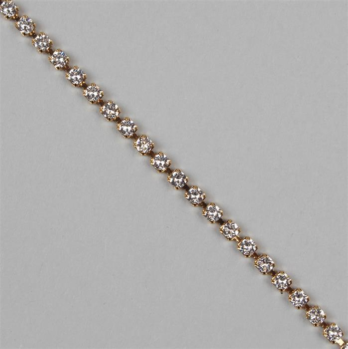 Crystal Gold Plating PP24, 27004 Swarovski Round Extended Cupchain (3.10mm) 50cm