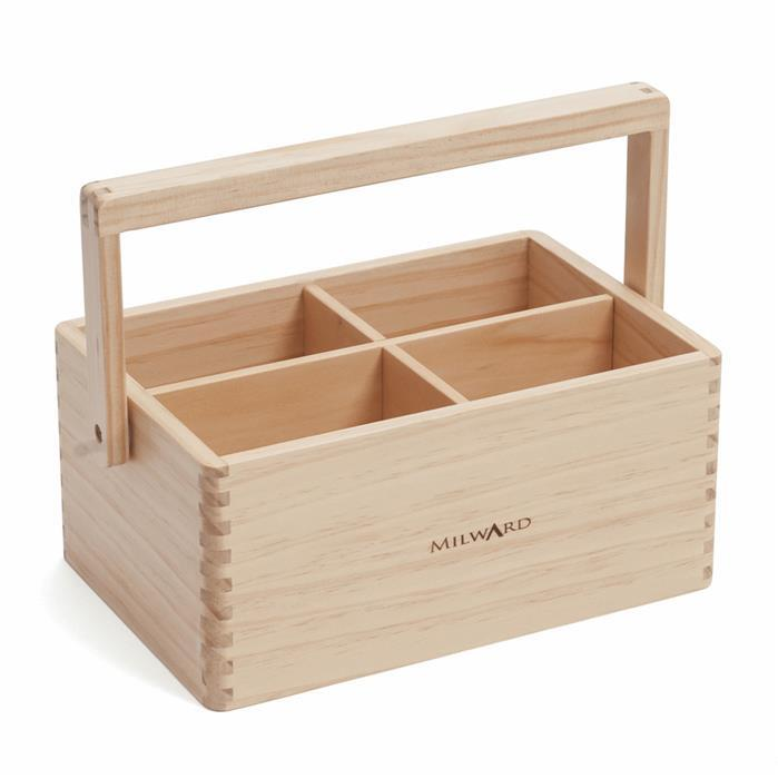 Milward Solid Pine Craft Caddy
