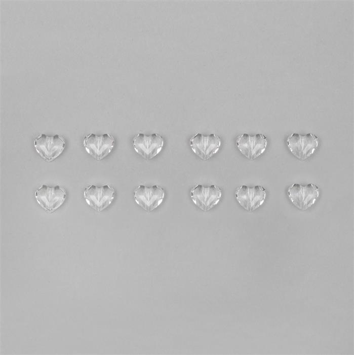 Swarovski Clear Crystal Heart Beads 8x6.5mm - 12pk