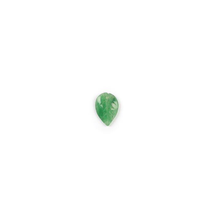 5cts Green Aventurine Leaf Pendant Approx 20x15mm