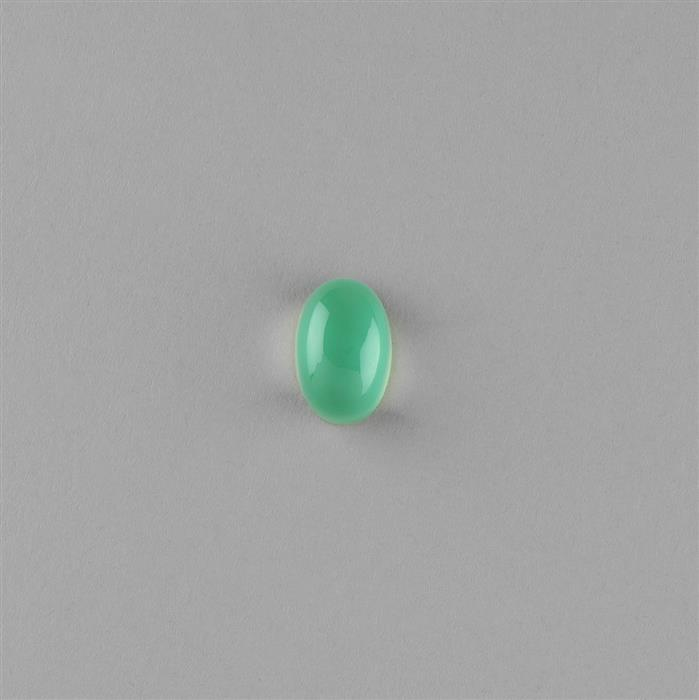 8cts Chrysoprase Chalcedony Doublet Oval Cabochon with Crystal Quartz Approx 15x10mm.
