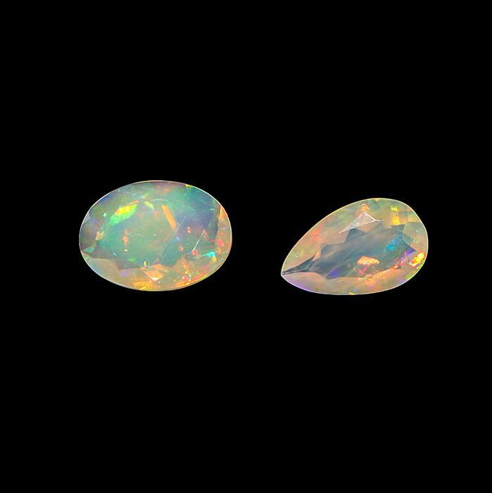 1.70cts Ethiopian Opal Faceted Multi Shape Assortment.