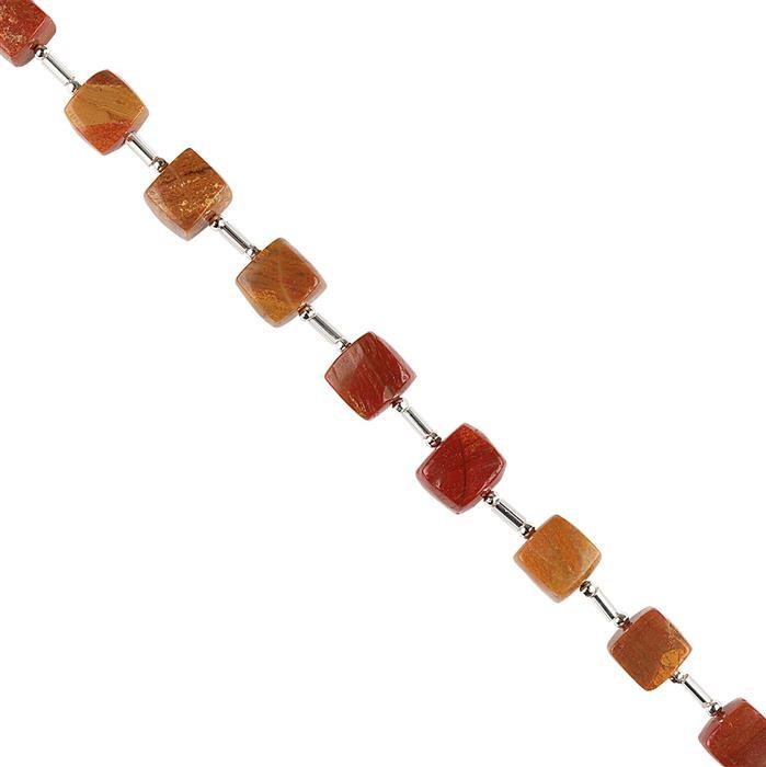 85cts Mookite Graduated Plain Cubes Approx 8 to 9mm, 16cm Strand.