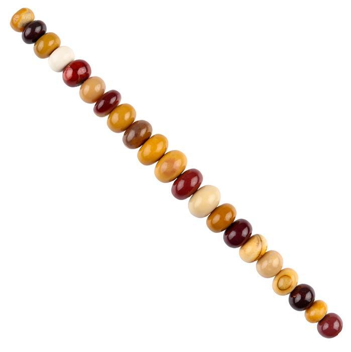 50cts Mookite Graduated Plain Rondelles Approx 6x4 to 9x6mm, 10cm Strand.