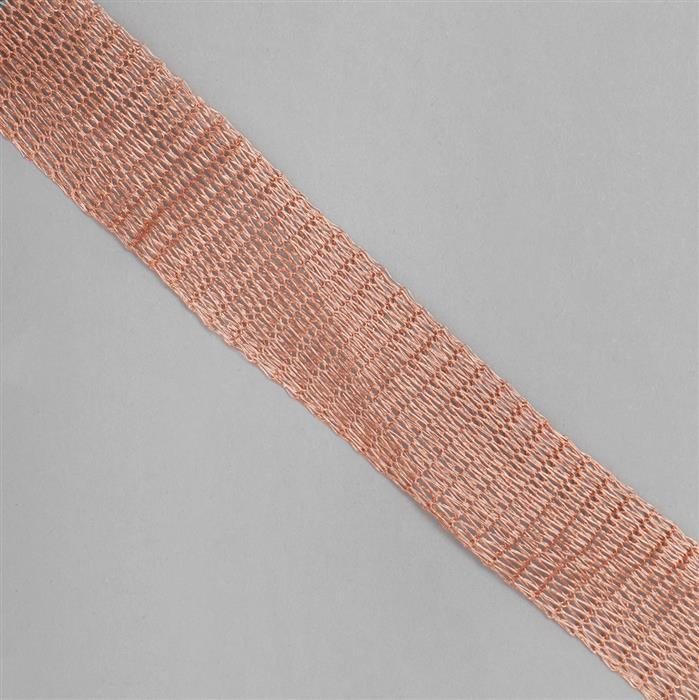 1m Rose Gold Brass Wire Mesh 18mm
