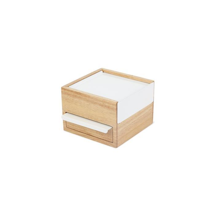 Mini Stowit Jewellery Box Natural/White 15.4 x 17.1 x 11.1 cm