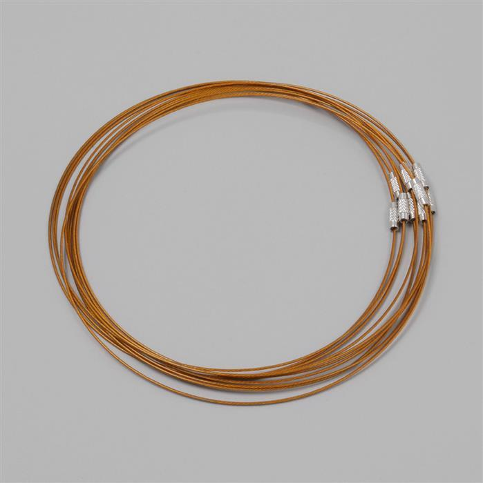 18 quot gold stainless steel wire necklace 10pcs pack