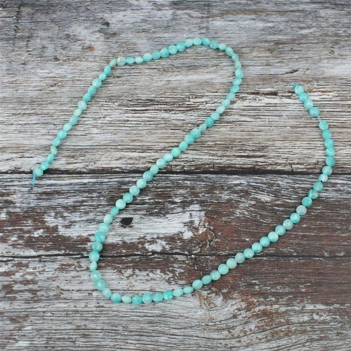 20cts Amazonite Faceted Coin, Approx 4mm  38cm strand