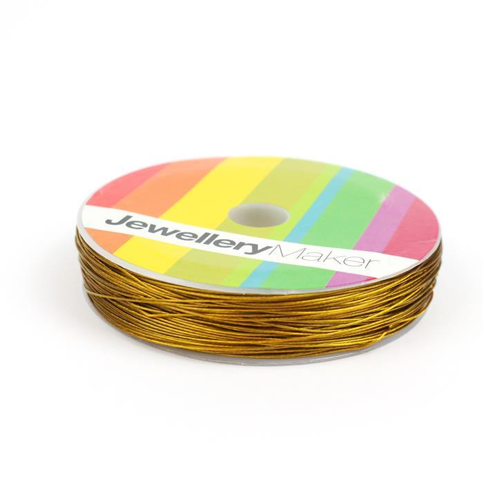50m Gold Coloured Beading Thread 0.38mm