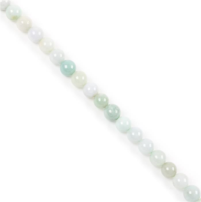 330cts Jadeite Plain Rounds Approx 10mm, Approx 38cm Strand