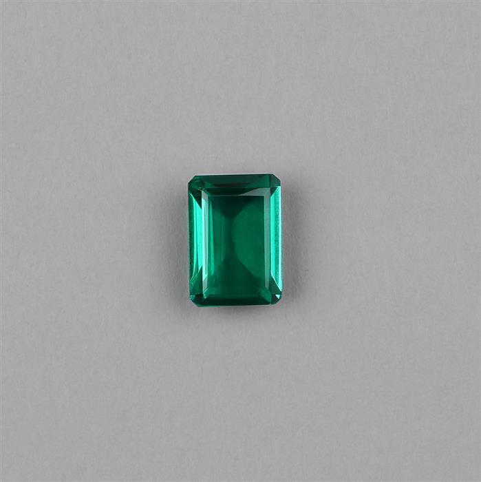 7cts Clear Quartz Emerald Colour Triplet Step Cut Octagon 14x10mm.
