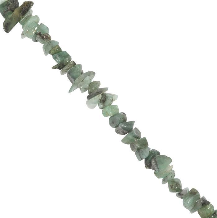 390cts Emerald Beads Nuggets Approx 4x2 to 9.50x7mm, 250cm Strand.