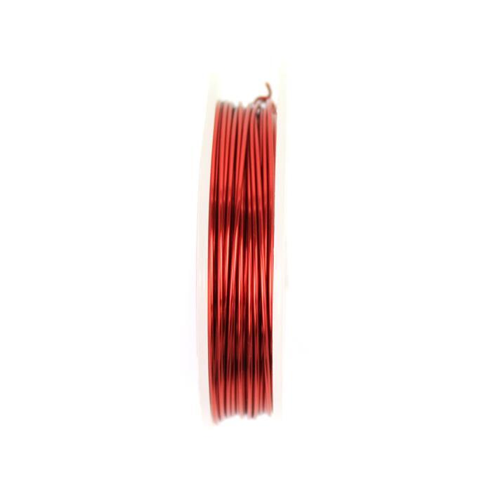 10m Red Coloured Copper Wire 1.25mm