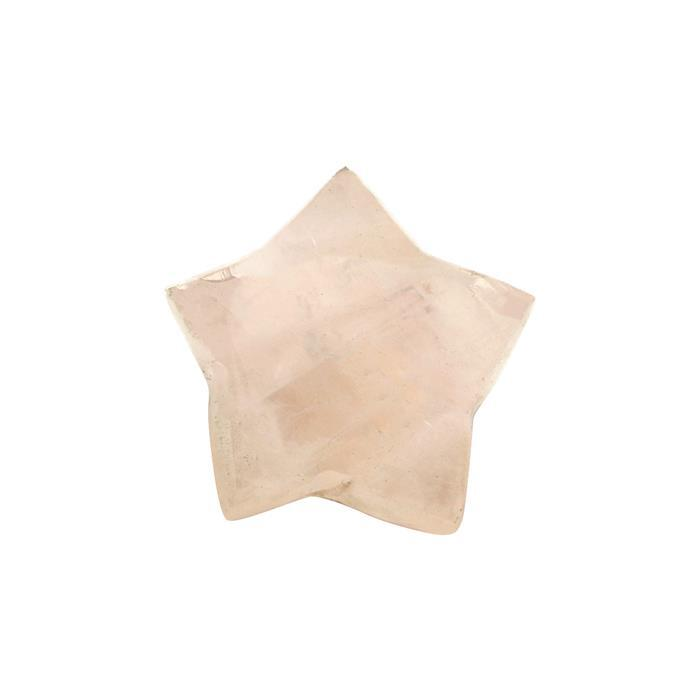 9cts Rose Quartz Top Side Drill Cabochon Star 16mm.
