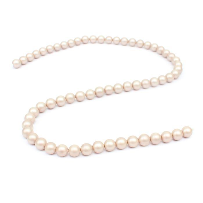 Twilight Matt Shell Pearl Plain Rounds Approx 6mm, 38cm length