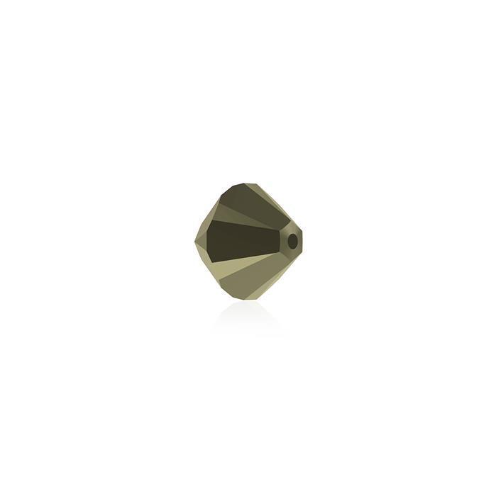 Swarovski Crystal Metallic Light Gold 2x Bicones 6mm 5328 48pk