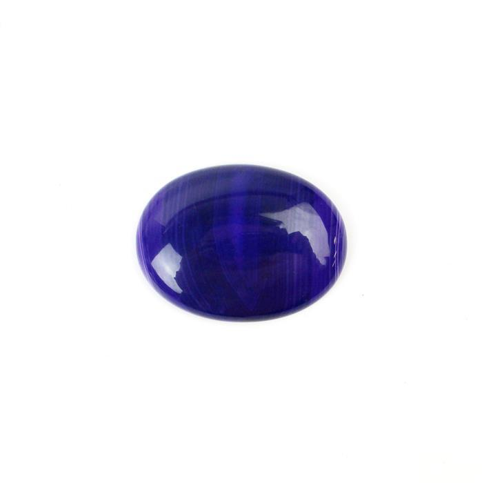 50cts Purple Stripe Agate Oval Cabochon Approx 30x40mm,