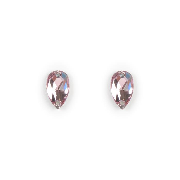 Swarovski Drop Sew On Stone 3230 Light Amethyst F 12x7mm 2pk